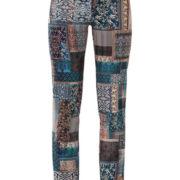Pantalón de señora estampado étnico con bolsillos y cierre de botón y cremallera.