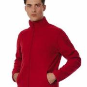 Micropolar para hombre con cremallera entera del mismo color de la prenda.