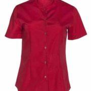 Camisa de señora manga corta de cuello mao.