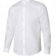 Camisa cuello mao stretch de manga larga para hombre.